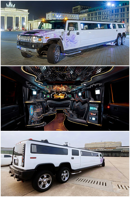 hummer h2 stretchlimo mit doppelachse in berlin mieten. Black Bedroom Furniture Sets. Home Design Ideas