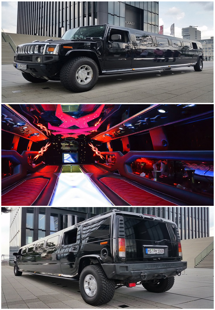 hummer stretchlimo h2 schwarz in k ln bonn mieten. Black Bedroom Furniture Sets. Home Design Ideas