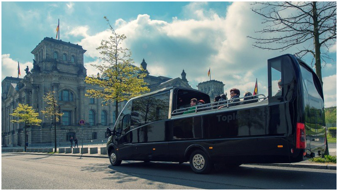 cabrio bus topless partybus in berlin mieten. Black Bedroom Furniture Sets. Home Design Ideas